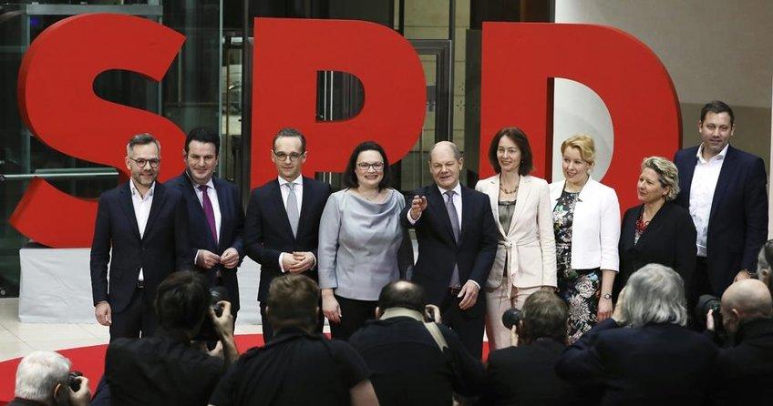 Almanyada Sosyal Demokrat bakanların isimleri belli oldu
