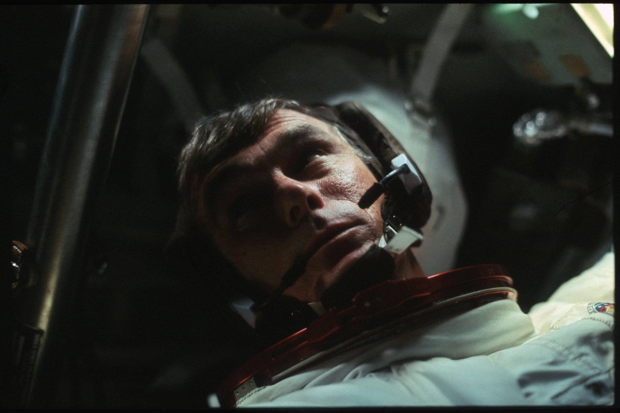 Astronaut Gene Cernan is pictured in the Command Module during the outbound trip from the moon during the Apollo 17 mission in this December, 1972 NASA handout photo. (Reuters Photo)
