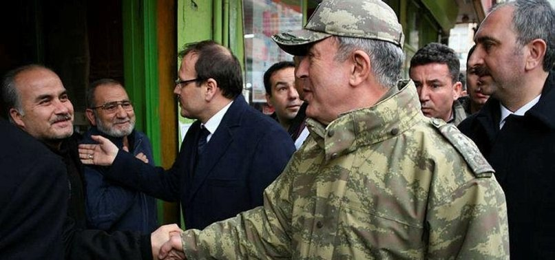 TURKISH ARMY CHIEF INSPECTS TROOPS IN BORDER PROVINCES
