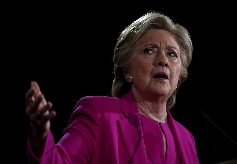 Democratic presidential nominee Hillary Clinton speaks during a campaign rally at Coastal Credit Union Music Park at Walnut Creek on November 3, 2016. (AFP Photo)