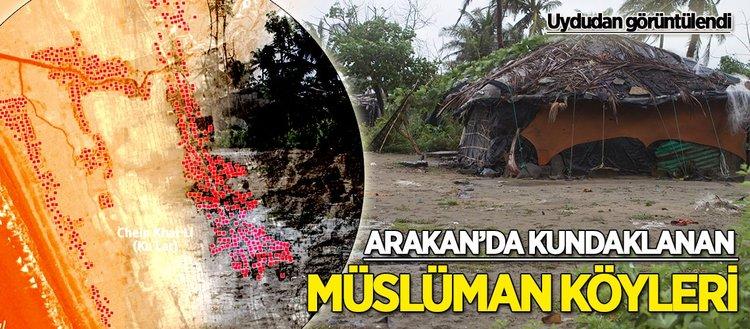 Arakan'da kundaklanan Müslüman köyleri