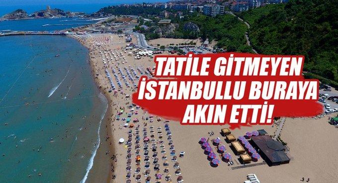 Tatile gidemeyen İstanbullular Şile'ye akın etti