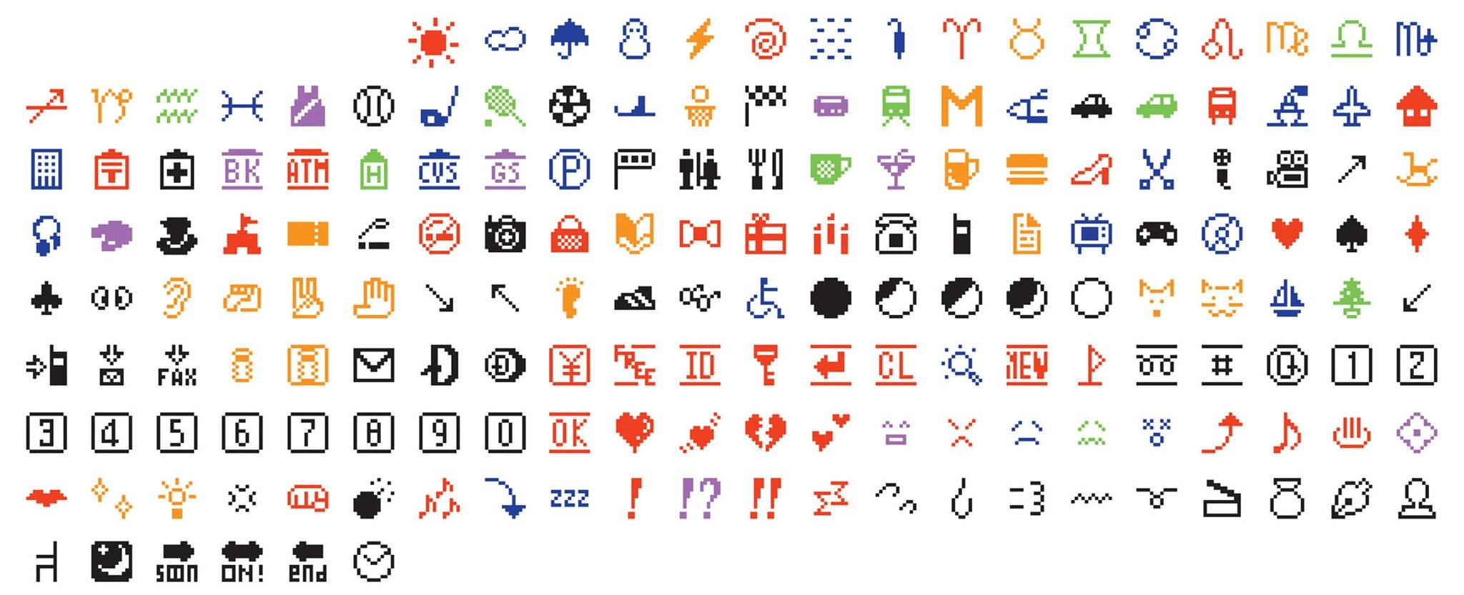 The set of 176 original emoji characters which have been donated to the Museum of Modern Art in New York City are seen in an undated handout image. (REUTERS Photo)