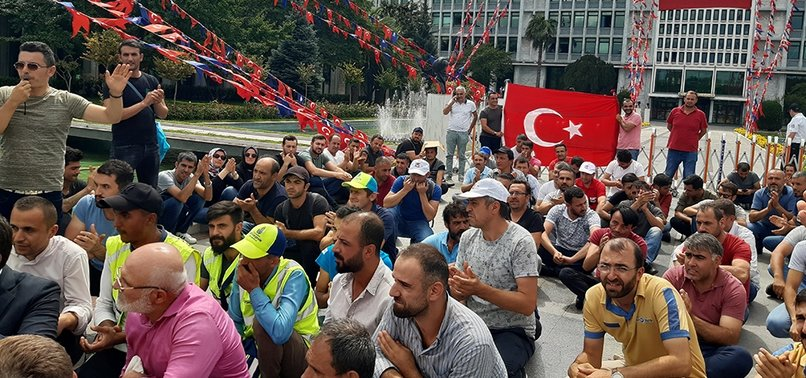 FIRED VICTIMS OF ISTANBUL MUNICIPALITY PROTESTING, DEMAND TO BE HEARD