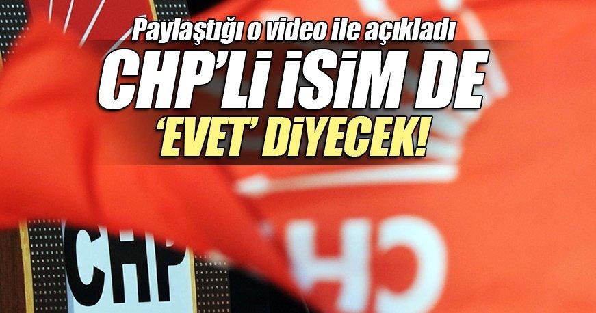 CHP'li eski milletvekili Faik Tunay da 'Evet' dedi!