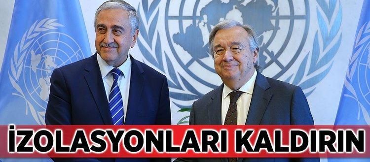 KKTC'den BM'ye izolasyonları kaldırın talebi