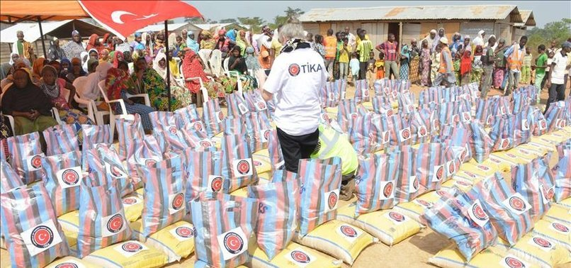 TURKISH AID AGENCY DONATES FOOD TO REFUGEES IN CAMEROON