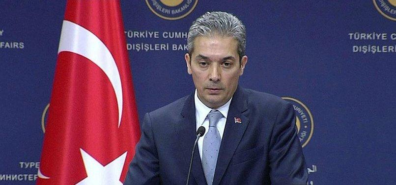TURKEY REITERATES POSITION ON FOREIGN TERRORISTS