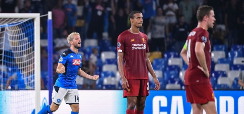 LIVERPOOLS CHAMPIONS LEAGUE TITLE DEFENCE BEGINS WITH DEFEAT TO NAPOLI