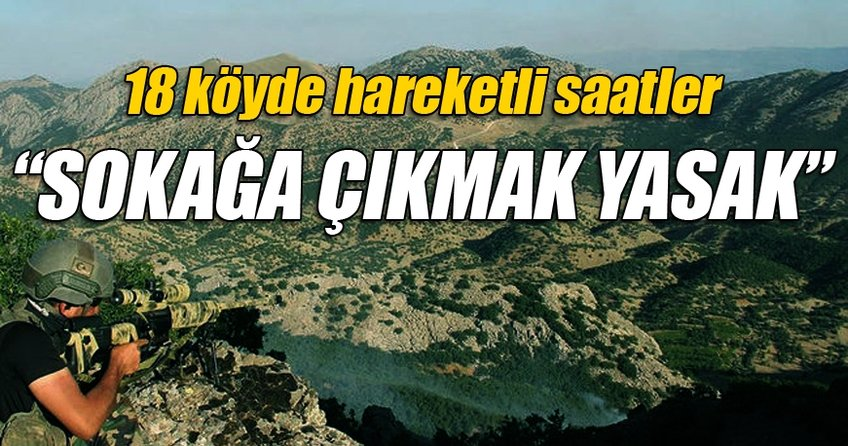 Diyarbakır'da 18 köyde sokağa çıkma yasağı ilan edildi
