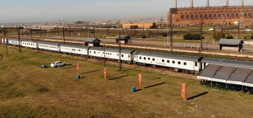 SOUTH AFRICAS VACCINE TRAIN TAKES DOSES TO POOR AREAS