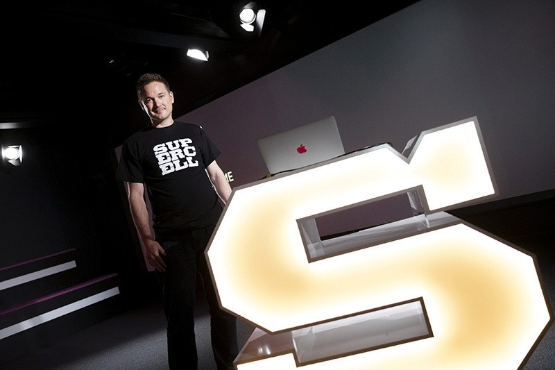 Finnish game company Supercell Co-Founder and CEO Ilkka Paananen poses while meeting with the press in the company's headquarters in Helsinki, Finland June 21, 2016. (Reuters Photo)