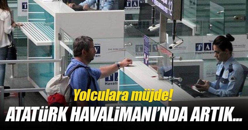 Atatürk havalimanında artık...
