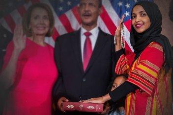 İlk başörtülü Müslüman üye dedesinden kalan Kur'an ile ABD Kongresi'nde