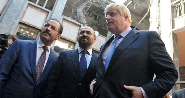 British Foreign Secretary Boris Johnson at the Grand National Assembly of Turkey, bombed by FETu00d6-linked soldiers during the July 15 failed coup attempt, September 27, 2016 (IHA Photo)