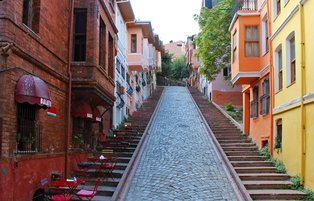 A colorful neighborhood in Istanbul: Balat