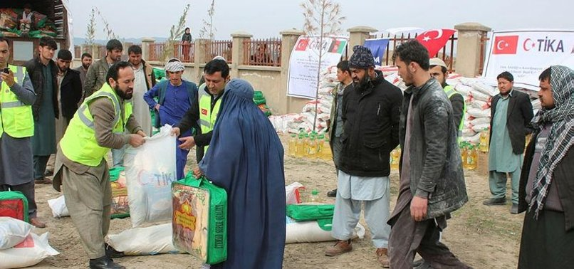 TURKEY DISTRIBUTES AID TO 1,000 FAMILIES IN AFGHANISTAN