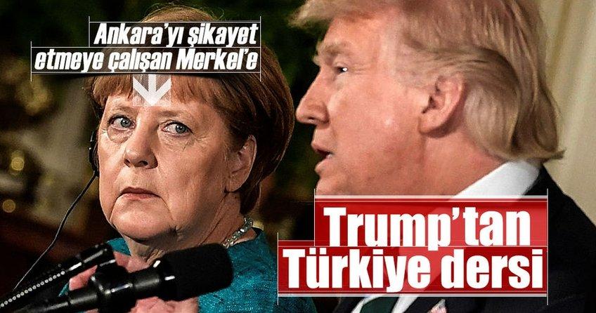 Trumptan Merkele Türkiye dersi
