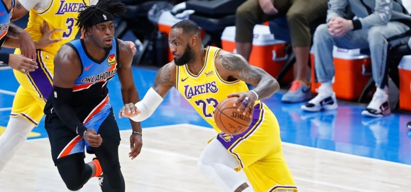 JAMES, LAKERS ROUT OKC FOR FRANCHISE-RECORD 7-0 ROAD START