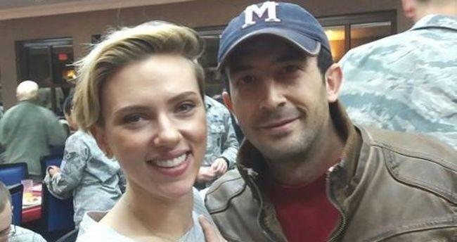 Turkish man with Scarlett Johansson, the u0130ncirlik Air Base in Turkey's southern city of Adana.