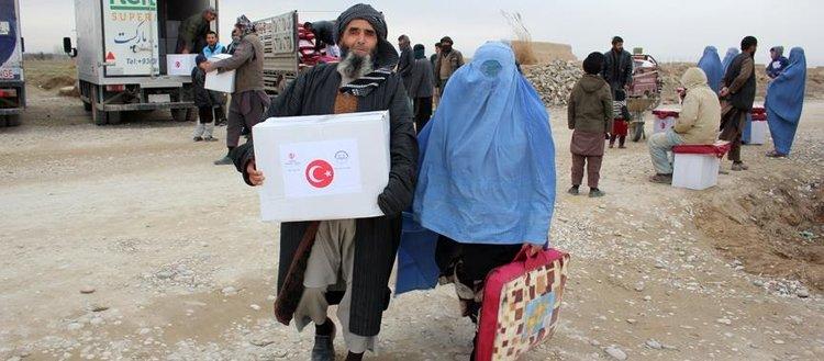 TDV'den Afganistan'daki savaş mağduru ailelere yardım