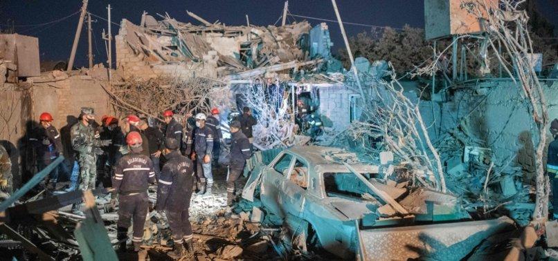 ARMENIAN MISSILE ATTACKS KILL 13 AZERI CIVILIANS INCLUDING TWO CHILDREN IN GANJA