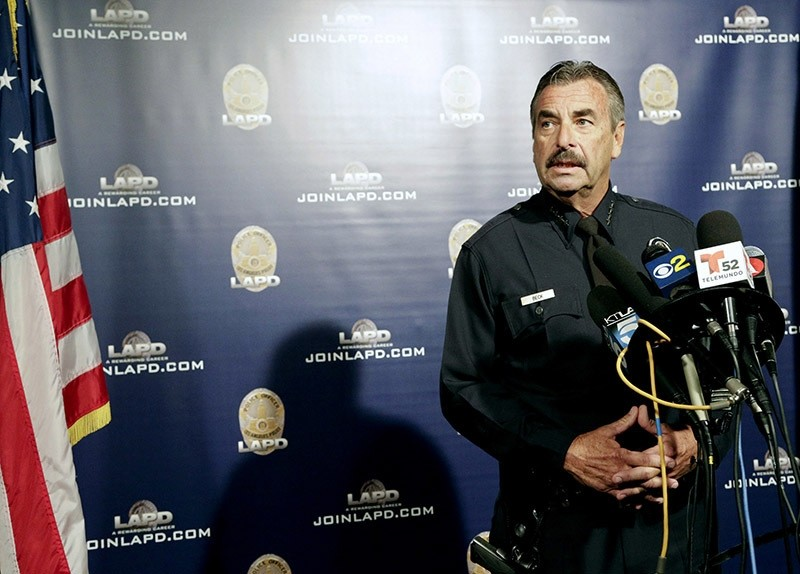 Los Angeles police chief during a news conference on Monday, Nov. 14, 2016. (AP Photo)