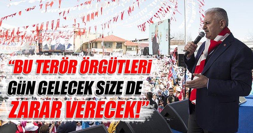 Başbakan Binali Yıldırım Erzincan'da halka seslendi