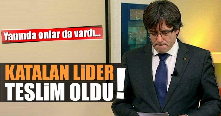 Son dakika: Katalan lider Puigdemont, Belçika polisine teslim oldu