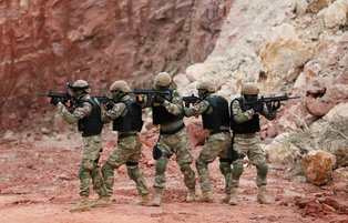 Tough training for Marine Amphibious Unit of Turkish Armed Forces