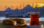 Essentials of Bosphorus tour: Turkish tea, simit on board ferry
