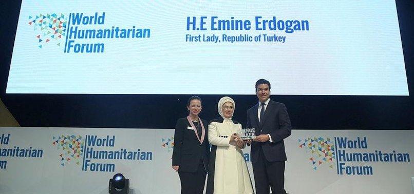TURKISH FIRST LADY EMINE ERDOGAN GETS CHANGEMAKER AWARD