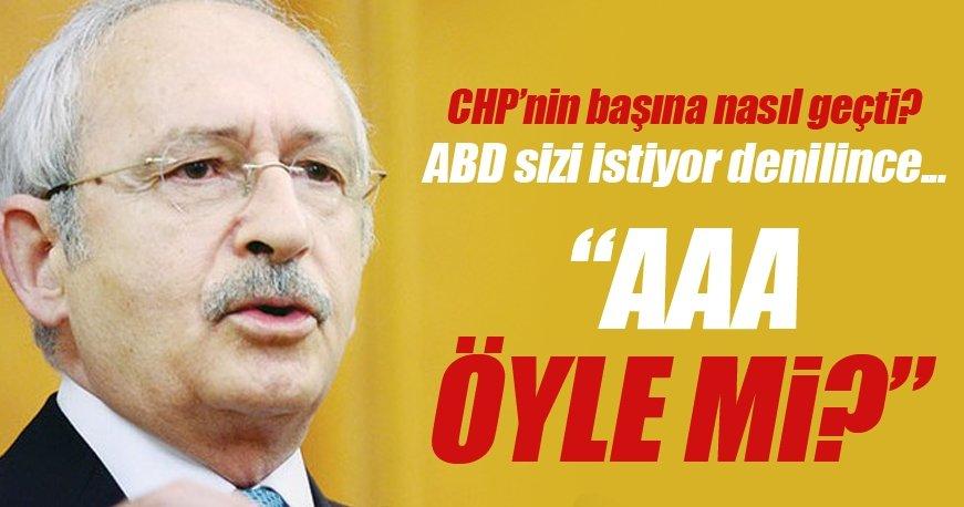 Kemal Kılıçdaroğlu'na ABD projesi olduğu söylenince çok şaşırdı