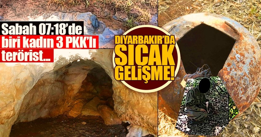 Diyarbakır'da son dakika gelişmesi! 1'i kadın 3 PKK'lı...