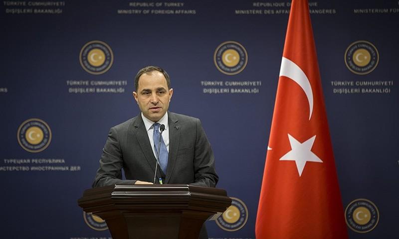 Foreign Ministry spokesperson Tanju Bilgic (AA Photo)