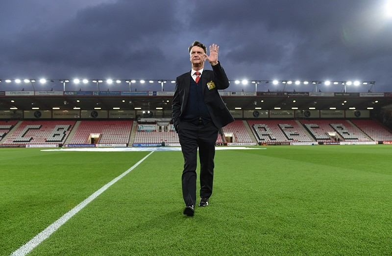 Manchester United manager Louis van Gaal before the AFC Bournemouth v Manchester United match. (REUTERS Photo)