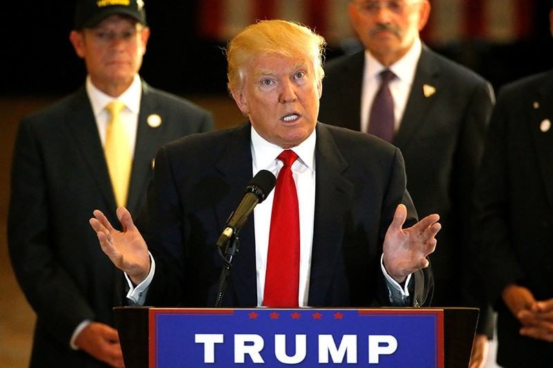 U.S. Republican presidential candidate Donald Trump gestures during a news conference at Trump Tower in Manhattan, New York, U.S., May 31, 2016.(Reuters Photo)