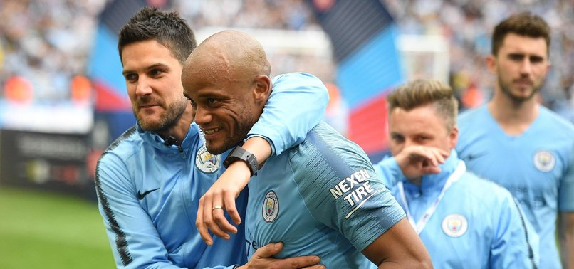 VINCENT KOMPANY TO LEAVE MAN CITY ON A HIGH AFTER TREBLE