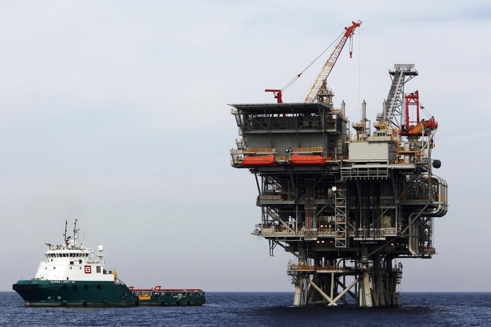 An Israeli gas platform, producing newly discovered Israeli natural gas, is seen in the Mediterranean sea. Israelu2019s drive to export its new-found natural gas could help rebuild its strained ties with old regional allies Egypt and Turkey.