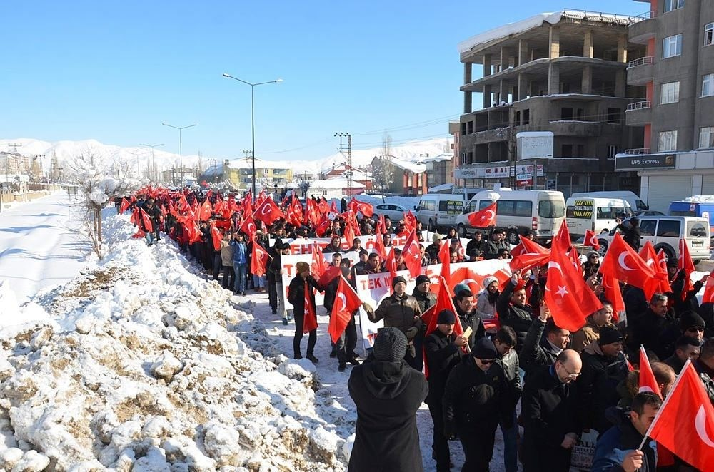 PKK terror protested in Kurdish-majority border town in Hakkari that sees most attacks