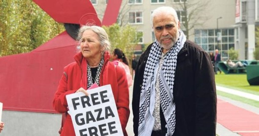 Hollanda'da Gazze gösterisi