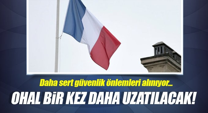 Fransada OHAL bir kez daha uzatılacak!