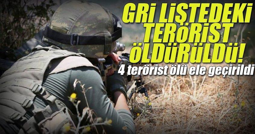 Gri listede bulunan terörist öldürüldü