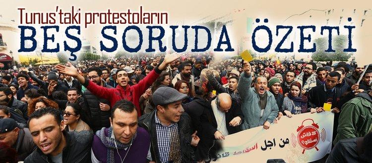 Tunus'taki protestoların beş soruda özeti