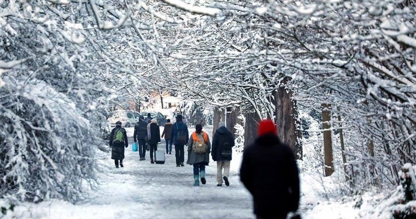 Avrupa'da 'kar'a kış