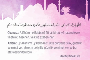 Peygamber Efendimiz Hz. Muhammed'in dilinden dualar