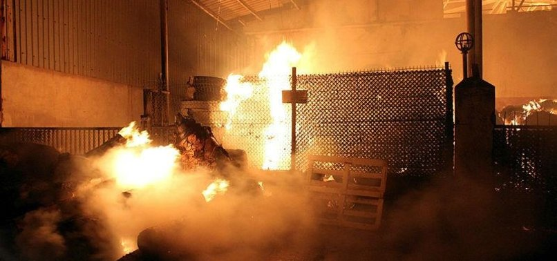 HUGE FIRE REPORTED AT FACTORY WAREHOUSE IN TURKEYS KOCAELI