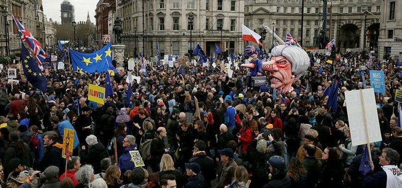 UKS EMBATTLED PRIME MINISTER FACES HUGE ANTI-BREXIT MARCH