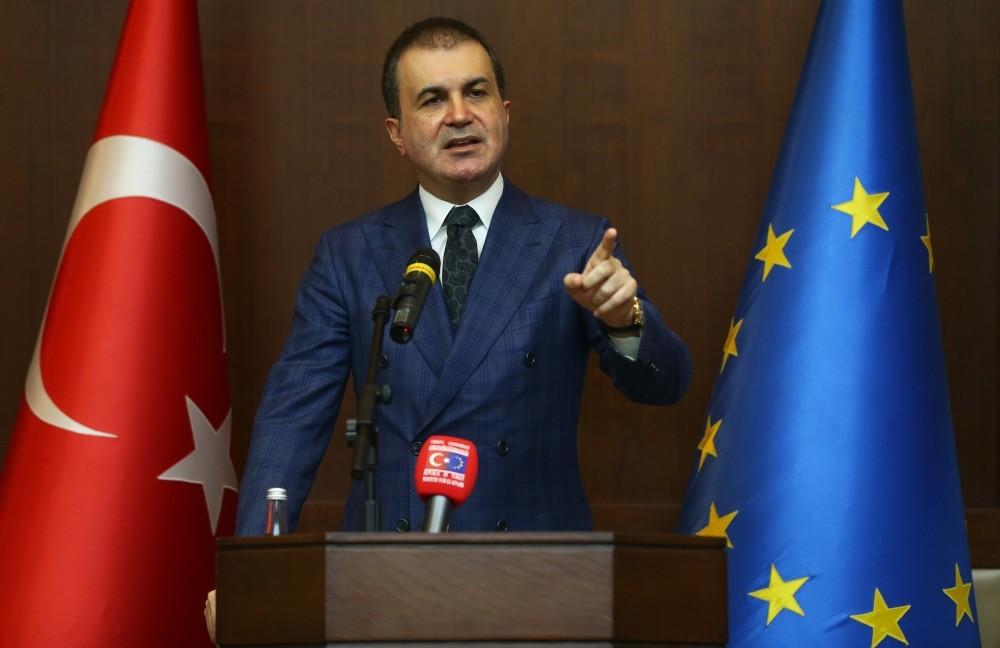 EU Minister and Chief Negotiator u00d6mer u00c7elik addressing the envoys of EU states to Ankara on Nov. 7, 2016.