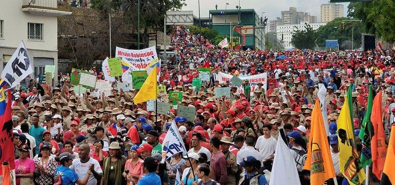 MARCH IN SUPPORT OF VENEZUELAN PRESIDENT MADURO